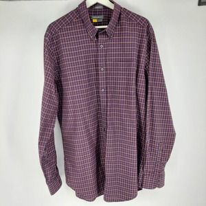 Eddie Bauer Mens Plaid Relaxed Fit Shirt Size TL
